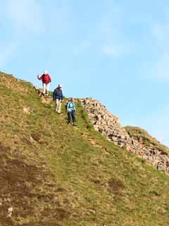 Walkers at Steel Rigg